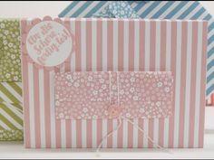 Eine Tasche mit dem Stanz-und Falzbrett für Briefumschläge | Basteln mit der Hobbycompany Quickborn und Stampin`Up Produkten