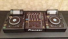 "3d DJ Turntable groom's cake. Three 9x11"" cakes covered in black fondant."