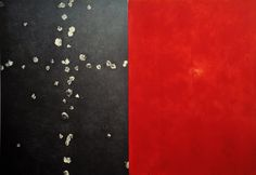 Omar Galliani Soltanto rose, 2004 matita e pigmento su tavola, cm 251x370