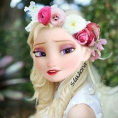 Looking pretty as a Snow Queen. Disney Princess Fashion, Disney Princess Quotes, Disney Princess Pictures, Disney Princess Drawings, Disney Pictures, Princesa Disney Frozen, Disney Princess Frozen, Barbie Princess, Elsa Modern