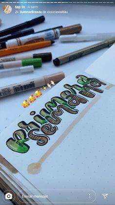 Bullet Journal Banner, Bullet Journal Books, Bullet Journal School, Bullet Journal Inspiration, Book Journal, Journals, Hand Lettering Alphabet, Nice Handwriting, Pretty Notes