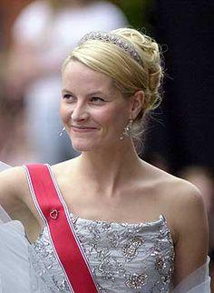 Crown Princess Mette-Marit wore this tiara for Princess Martha Louise's Wedding on May 24, 2002.