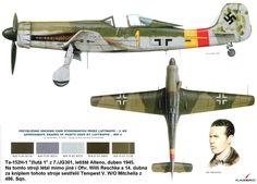 Focke-Wulf Ta 152 from frown by Ofw. Ww2 Aircraft, Fighter Aircraft, Military Aircraft, Fighter Jets, Air Fighter, Luftwaffe, Ta 152, Focke Wulf 190, Scale Models