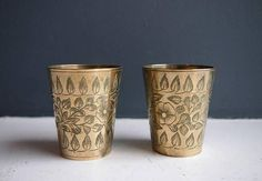 Check out this item in my Etsy shop https://www.etsy.com/uk/listing/543509146/decorative-brass-cups-2-small-vintage
