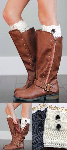 Boot cuffs for girls! These will be perfect for my daughters. These are so cute.
