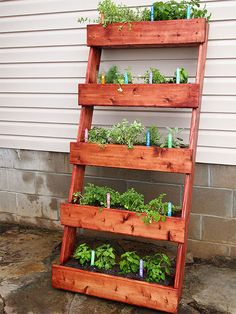 Change your perspective and make a vertical container garden! We have plenty of DIY ideas to hang pots, plants and herbs so you can fit a full container garden in even the smallest of spaces!