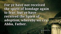 Daily Bible Verse Romans 8:15