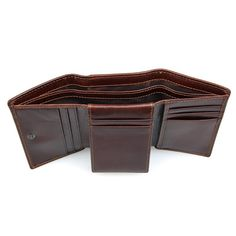 Buy RFID Wallet Antitheft Scanning Leather Wallet Hasp Leisure Men's Slim Leather Mini Wallet Case Credit Card Trifold Purse at Wish - Shopping Made Fun Rfid Wallet, Clutch Wallet, Cash Safe, Leather Trifold Wallet, Slim Man, Cowhide Leather, Cow Leather, Leather Craft, Backpack