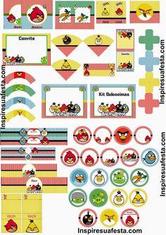 Angry Birds: Kit para Imprimir Gratis.