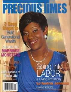 Le'Andria Johnson covers Precious Times magazine