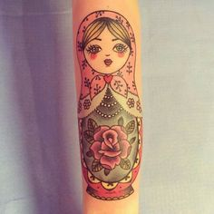 Doll tattoo design sweets Ideas for 2019 Sweet Tattoos, Girly Tattoos, Time Tattoos, Tattoo You, Arm Tattoo, Cool Tattoos, Tatoos, Sibling Tattoos, Sister Tattoos