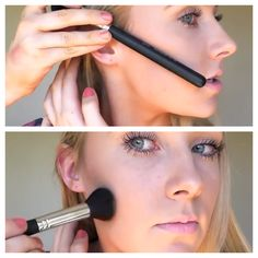 Contouring: How to Contour + Highlight for Beginners http://flawlesseyeshadows.blogspot.com/2014/01/how-to-contour-and-highlight-for.html
