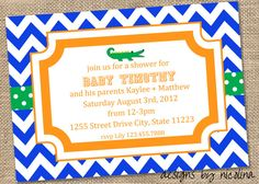 Florida Gators Baby Shower PRINTABLE by designsbynicolina on Etsy, $12.00