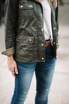 J.Crew Downtown Field Jacket * Fall Outfit Ideas * Casual Fall Outfits * Jeans and Boots * @louwhatwear * Fall Style
