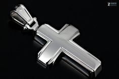 Handmade Cross 925 Sterling Silver and Rhodium by ZografosCrosses, €56.00