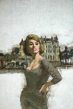 """Swinging Sixties"" paintings by Michael Johnson."