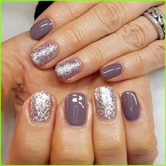 Sns Nails Colors, Color For Nails, Toe Nail Color, Purple Nails, Pedicure Colors, Sparkly Nails, Purple Sparkle, Neutral Nails, Fall Nail Colors