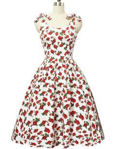Graceful bowknot bretelles sans manches imprimé floral robe de bal pour les  femmes bbd70a38f6c