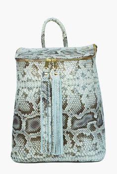 Rucsac snake print din piele naturala 197-G -  Ama Fashion