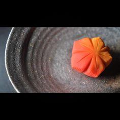 """""""一日一菓 「紅葉」 煉切 製 wagashi of the day """"maipe"""""""