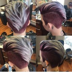 360 Pixie Haircut View - Shaved Short Hairstyle for Thick Hair - Hair Tutorials Short Hairstyles For Thick Hair, Short Haircuts, Pretty Hairstyles, Pixie Haircut For Thick Hair, Mohawk Hairstyles, Hairstyles 2018, Fade Haircut, Short Hair Styles Shaved, Short Hair Cuts For Women With Thick