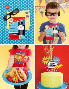 Super Hero Party Printables