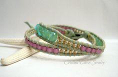Leather Wrap Bracelet The Little Mermaid by CristinaDavisJewelry