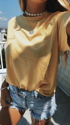 43 Top Summer Outfits — Green and Yellow Make You Cool; summer outfits 43 Top Summer Outfits — Green and Yellow Make You Cool; Teen Fashion Outfits, Casual Outfits, Summer Fashion For Teens, Casual Summer Outfits For Teens, Shorts Outfits For Teens, Fashion Ideas, Summer Clothes For Teens, Teen School Outfits, Cute Summer Outfits Tumblr