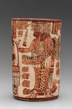Cylinder vase | Museum of Fine Arts, Boston,Maya Late Classic Period A.D. 600–750