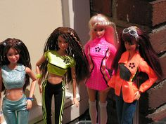 Think Pink barbie dolls. i miss my cassette that had the song on it.