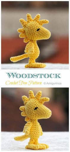 Most up-to-date Free crochet amigurumi characters Concepts Amigurumi Woodstock Crochet Free Patterns – Crochet & Knitting Crochet Patterns Amigurumi, Crochet Dolls, Crochet Stitches, Knitting Patterns, Free Knitting, Knitting Toys, Crochet Dinosaur Pattern Free, Disney Crochet Patterns, Crochet Dragon Pattern