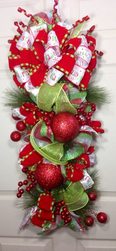 Holiday Snowman Mesh Wreath by WilliamsFloral on Etsy
