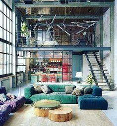 "186 Likes, 1 Comments - Casas Houses Arq (@casashousesarq) on Instagram: ""#Loft diseñado por Tatiana Golovach & Andrey Kot en #budapest Desde @designbunker Tag #casashouses…"""