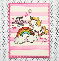 Avery Elle Be a Unicorn - Magical Birthday #handmade #cardmaking #carterie…