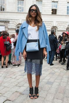 this skirt. #streetstyle #pfw