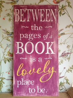 Typography word art handpainted sign in lovely by TheHeartwood, £40.00