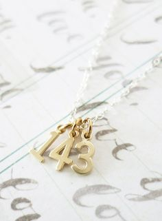 143 I Love You necklace simple