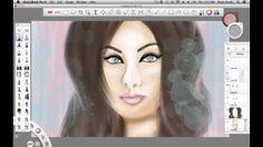 Digital painting with Wacom Cintiq 21WX