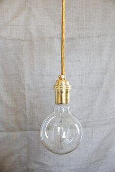 Modern Edison Pendant Light Kit // Gold on Gold by SoAndSoDesigns, $58.00