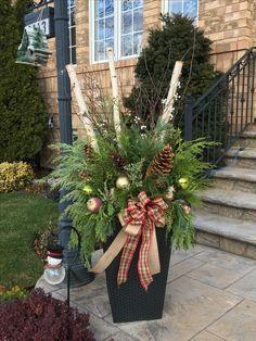 Christmas planter by Ana Mateus Christmas outdoor urn