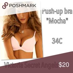 VS Angels push up bra in mocha 34C Gently worn. Victoria's Secret Intimates & Sleepwear Bras