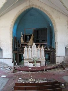 Abandoned pipe organ St. Louis.