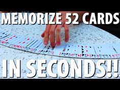 How to Memorize a Deck of Cards in SECONDS!! - Two key cards shuffled