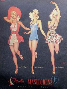 Masllorens vintage ad for swimsuit 1941
