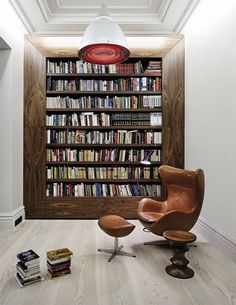 The right place to enjoy a cigar... Or just a good book. #home #library #arnejacobsen
