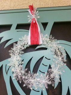 Snow flake wreath