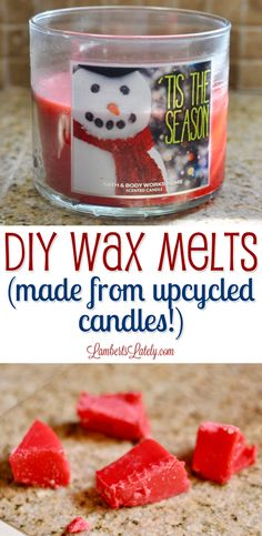 DIY Wax Melts (Made From Upcycled Candles!) – In-house Factory Diy Candle Melts, Diy Wax Melts, Scented Wax Melts, Melting Candle Wax, Diy Candles Scented, Homemade Candles, Jar Candles, Candle Molds, Upcycled Crafts