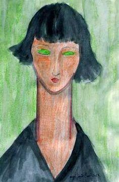 Amedeo Modigliani - ©Regenbogen Amedeo Modigliani, Karl Schmidt Rottluff, Girl Face Drawing, Great Works Of Art, Italian Painters, Art Moderne, Art Abstrait, Art Plastique, Portrait Art