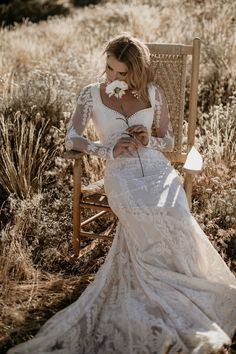 Violetta by Dreamers & Lovers - Boho Long Sleeve Lace Wedding Dress Bridal Dresses, Wedding Gowns, Lace Wedding, Mermaid Wedding, Vintage Boho Wedding Dress, Dream Wedding, Backless Wedding, Wedding White, Forest Wedding