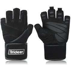 Trideer Padded Anti-slip Weight Lifting Gloves, Gym Gloves, with 18`` Length Adjustable Strap and Silica Gel No description (Barcode EAN = 0608560514250). http://www.comparestoreprices.co.uk/december-2016-5/trideer-padded-anti-slip-weight-lifting-gloves-gym-gloves-with-18-length-adjustable-strap-and-silica-gel.asp